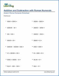 grade 4 roman numerals worksheets free u0026 printable k5 learning