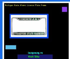 msu alumni license plate frame michigan state alumni license plate frame at cus den