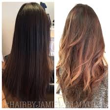 hair color before and after balayage hair color caramel blonde