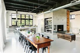 Dining Room Ceiling Lights Interior Design Classy Industrial Décor With Black Ceiling And