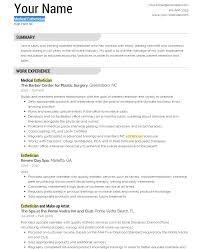 medical esthetician resume template eliolera com