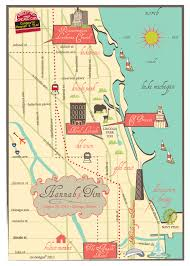 Navy Pier Map Cw Designs Custom Wedding Maps Invitations Save The Dates