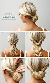 chignon mariage facile a faire 50 idées pour votre coiffure mariage cheveux mi longs hair style