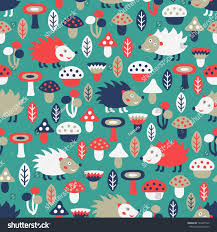 hedgehog wrapping paper hedgehog seamless pattern stock vector 143647945