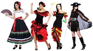 spanish senorita ladies fancy dress womens flamenco dancer