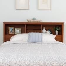 Stand Alone Headboard by Scandinavia Solid Bamboo Wood Bookcase Headboard Free Shipping
