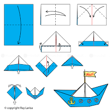 Step By Step Origami For - how to make origami boat origami boat tutorial step