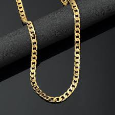 curb link necklace images Men 20 quot gold plated miami cuban curb link chain choker flat jpg
