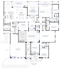 contemporary courtyard house plan kitchen dining living open