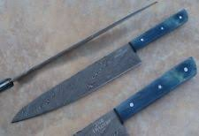 damascus kitchen knives damascus chef knife custom manufactured ebay