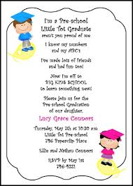 free kindergarten and preschool graduation wording sles