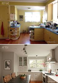 white and gray kitchen before and after modern farmhouse with
