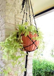how to make a macrame hanging planter for halloween how tos diy