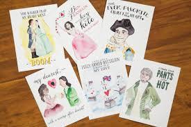 hamiltines hamilton postcards set of 6 cards