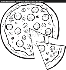 pizza vector sketch vector yayimages com