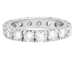 10k white gold wedding band 10k white gold genuine diamond solitaire eternity wedding band