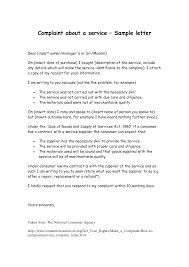 sample of complaint letter for bad service resume acierta us