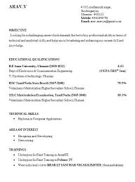 standard format resume standard resume format for engineering students best resume