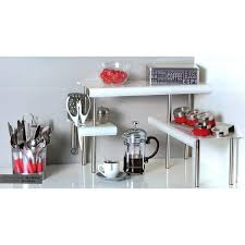 étagère cuisine à poser étagère d angle cuisine blanc maison futée