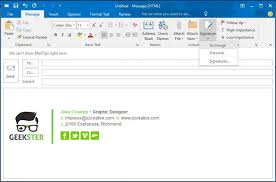 how to create a signature in outlook