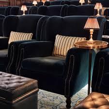 Overstuffed Armchair by Cinema Armchair Green Mohair