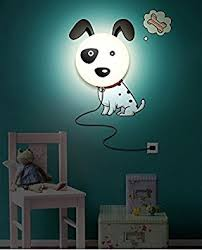 3d Lamps Amazon Clest F U0026h Cute Dog 3d Wall Stickers Wall Lamps Night Light For