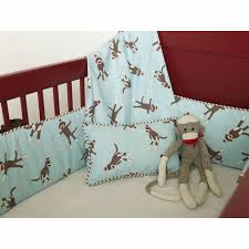 Boy Monkey Crib Bedding Monkey Crib Bedding In Blue By Maddie Boo
