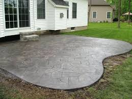 patio ideas cement backyard backyard stamped concrete patio