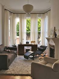 outside mount double curtain rods living room eclectic with