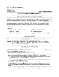 Technical Proficiencies Resume Examples by Project Management Resume Samples Free Project Management Resume