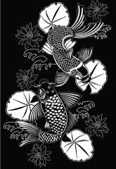 vibrant koi fish tattoo designs that showcase courage and bravery