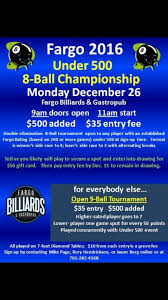 Fargo Open Friday After Thanksgiving Upcoming Tournaments Fargo Billiards