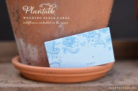 wedding table cards on plantable paper indian smile seeded