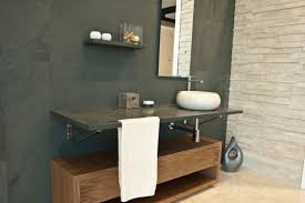 countertop washbasin round natural stone contemporary core