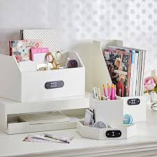 Wood Desk Accessories And Organizers Wooden Desk Accessories Pbteen