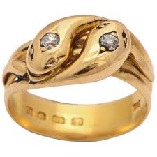 double rings jewelry images Hallmarked double headed gold serpent ring for sale at 1stdibs jpg