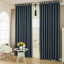 63 Inch Curtains Ffmode Solid Color Blackout Drapes Curtains Grommet Top 42 Inch