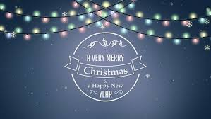4k a very merry christmas and a happy new year animated text title
