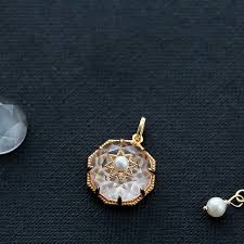 white quartz necklace images Pearl and white quartz crystal pendant necklace gold plated silver jpg