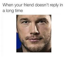 Reply Memes - when your friend doesn t reply in a long time friends meme on sizzle