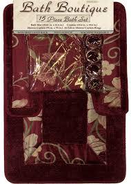 Burgundy Bathroom Rugs Home Dynamix Bath Boutique Shower Curtain And Bath Rug Set 305