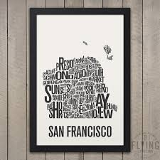 Chicago Neighborhood Map Poster by Flying Junction City Neighborhood Map Prints U0026 City Posters