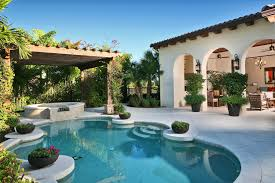 Patio And Pool Designs Mediterranean Home Design Ideas Patio Kitchen House Plans Yards