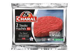 cuisine steak haché steak haché pur bœuf 15 fiche produit charal