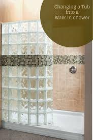 tub with glass door best 25 glass block shower ideas on pinterest bathroom shower