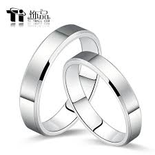 platinum rings wedding images Ti jewelry pure cobalt platinum couple rings korean tail ring jpg