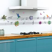 online get cheap musical notes wallpapers aliexpress com music note butterfly flowers wall stickers kitchen room window glass cabinet wall decal wallpaper poster art