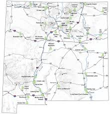 New Mexico Counties Map by Emnrd State Parks Division