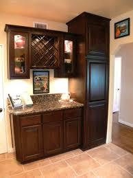 cozy rectangular backsplash tile inside cabinet wine rack spice