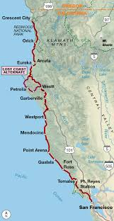 map us route 1 pacific coast adventure cycling route network adventure